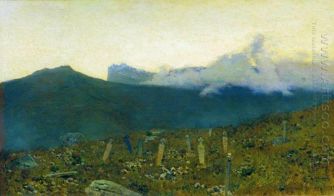 Tatarian Cemetery Crimea 1886