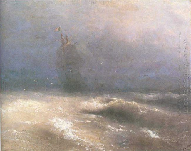 Tempest By Coast Of Nice 1885