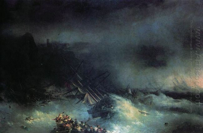 Tempest Shipwreck Of The Foreign Ship 1855