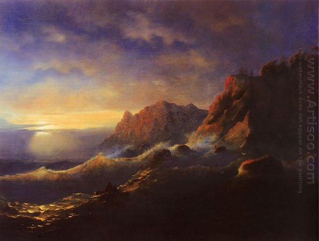Tempest Sunset 1856
