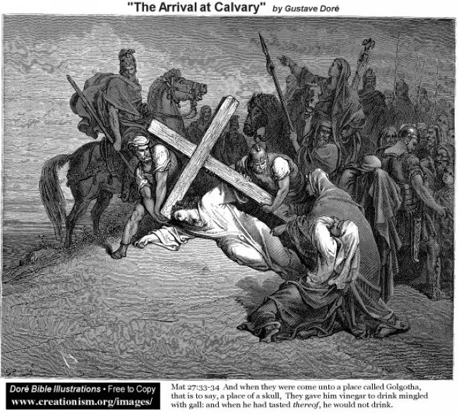 The Arrival At Calvary