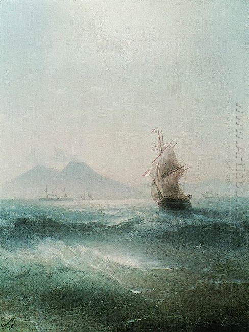 The Bay Of Naples View Of Vesuvius 1879