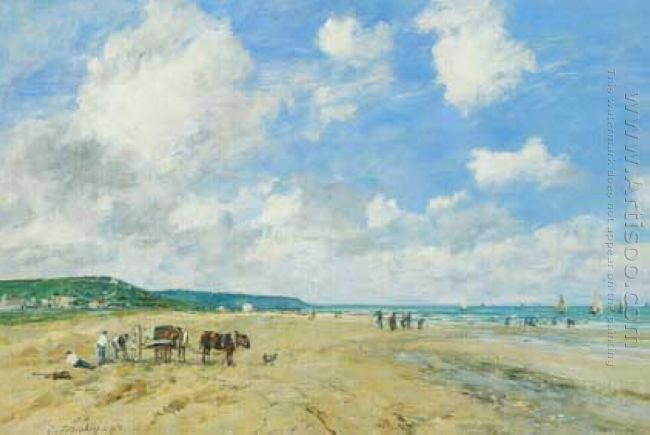 The Beach At Deauville 1863