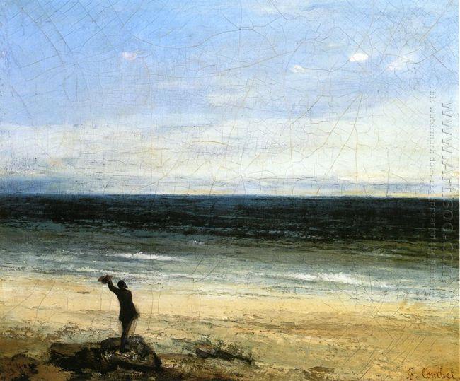The Beach At Palavas 1854