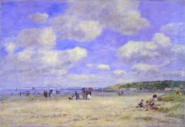 The Beach At Tourg Ville Les Sablons 1893