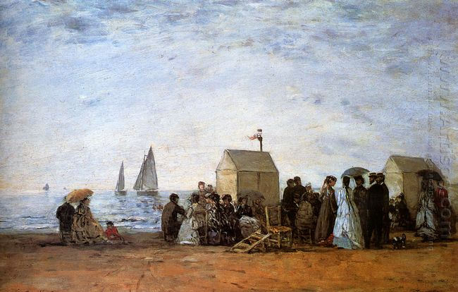 The Beach At Trouville 1864