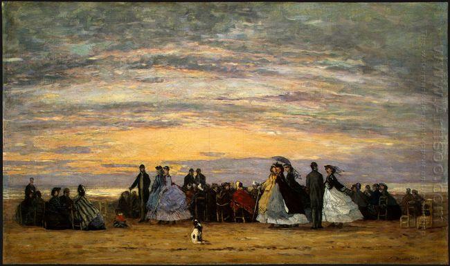 The Beach At Villerville 1864