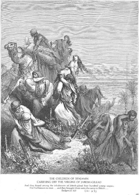 The Benjaminites Take The Virgins Of Jabesh Gilead