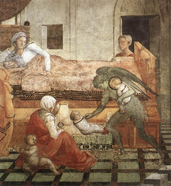 The Birth And Infancy Of St Stephen Detail