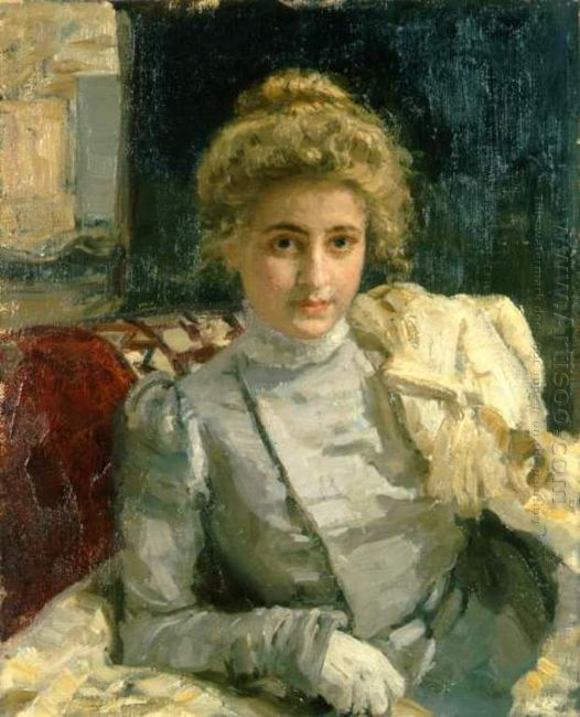The Blond Portrait Of Tevashova 1898