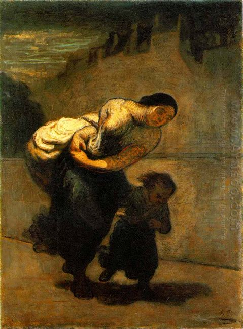 The Burden The Laundress 1853