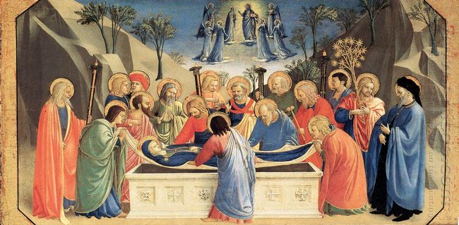 The Burial Of The Virgin And The Reception Of Her Soul In Heaven
