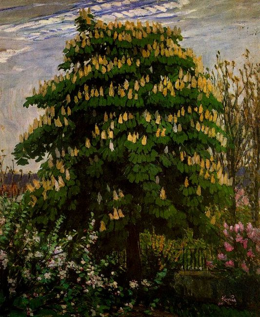 The Chestnut Tree In Blossom 1906