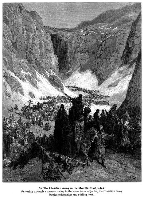 The Christian Army In The Mountains Of Judea