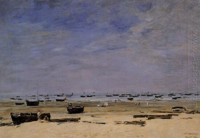 The Coastline At Berck At Low Tide 1882