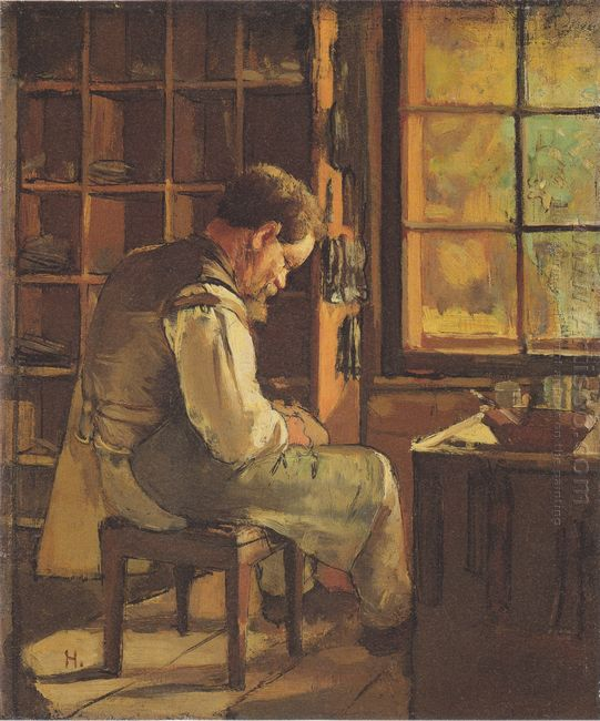 The Cobbler By The Window 1882