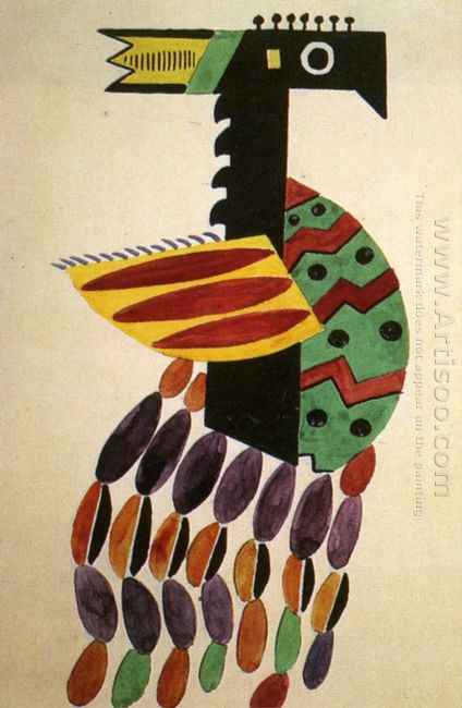 The Creation Of The World Bird Drawing Of Costume 1923