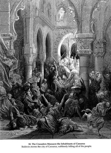 The Crusaders Massacre The Inhabitants Of Caesarea 1877