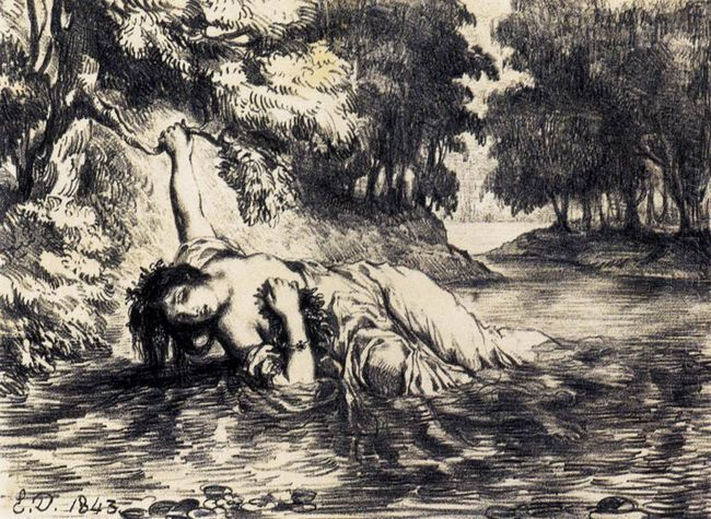 The Death Of Ophelia 1843