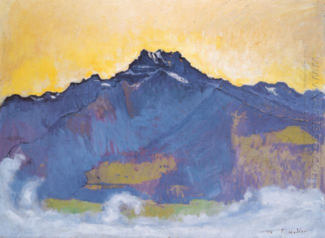 The Dents Du Midi From Chesieres 1912