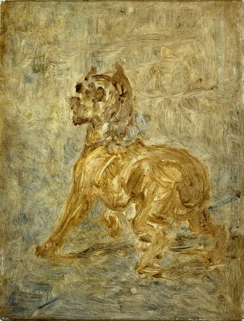 The Dog Sketch Of Touc