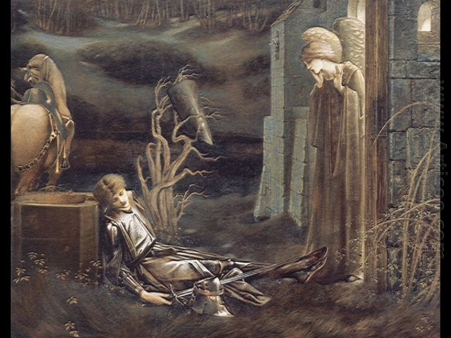 The Dream Of Launcelot At The Chapel Of The San Graal 1896