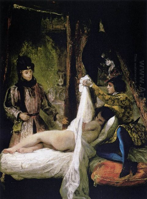 The Duc D Orleans Showing His Mistress To The Duc De Bourgogne