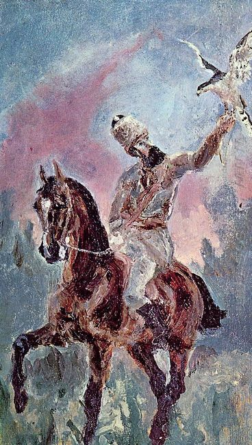 The Falconer Comte Alphonse De Toulouse Lautrec 1881