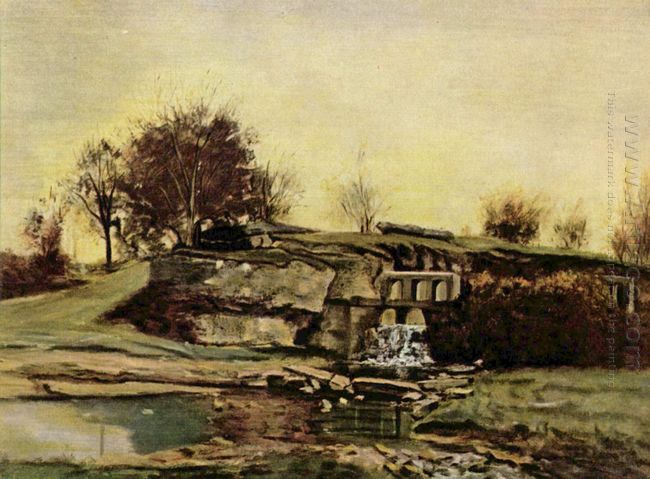 The Flood Gate At Optevoz 1854
