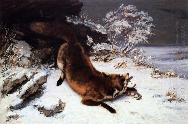 The Fox In The Snow 1860