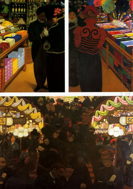 The Good Market Triptych 1898