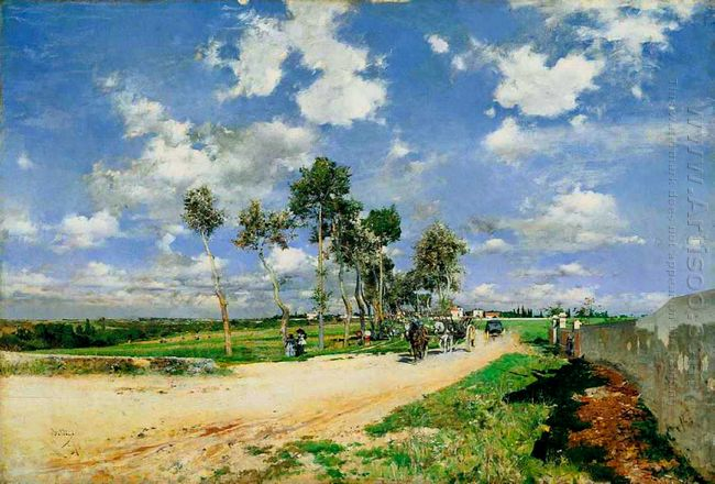 The Great Road In The Villas Combes 1873