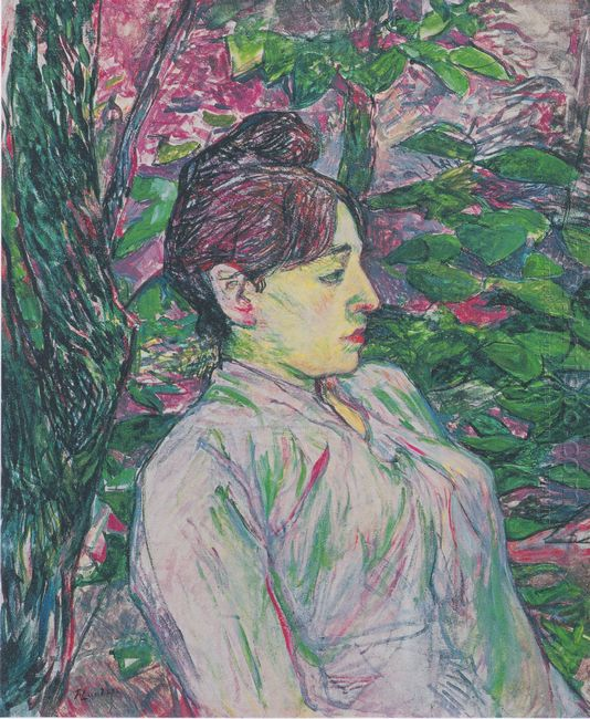 The Greens Seated Woman In A Garden 1891