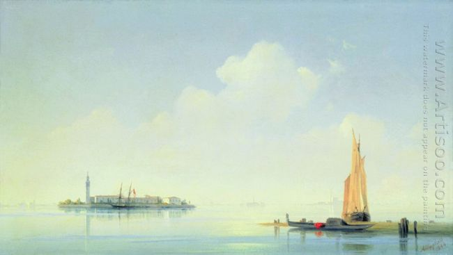 The Harbour Of Venice The Island Of San Georgio 1844
