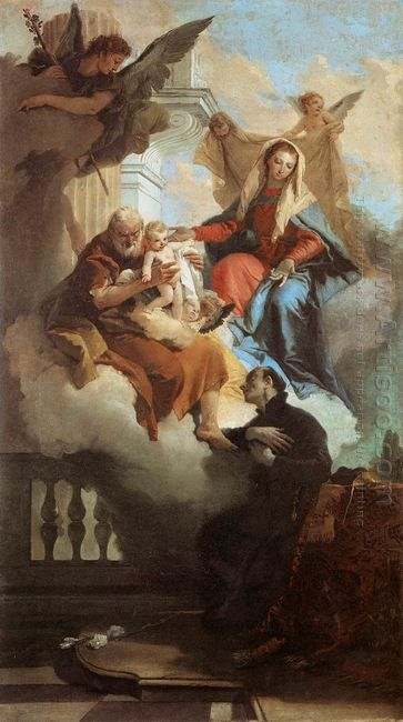 The Holy Family Appearing In A Vision To St Gaetano 1736
