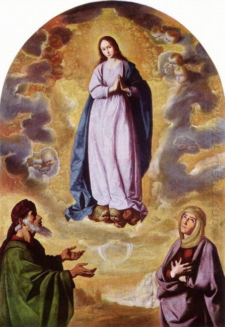 The Immaculate Conception With Saint Joachim And Saint Anne 1640