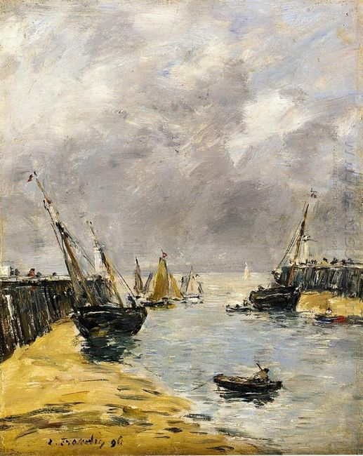 The Jetties Low Tide Trouville 1896