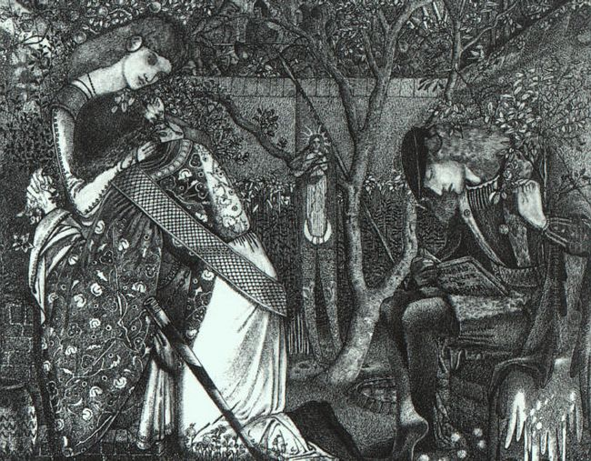 The Knight S Farewell 1858