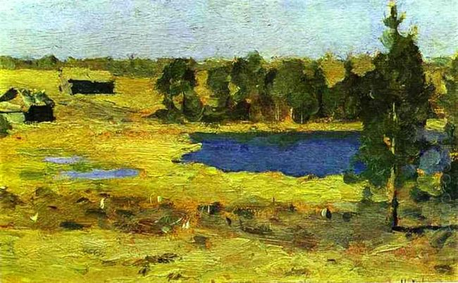 The Lake Barns At The Edge Of Forest 1899