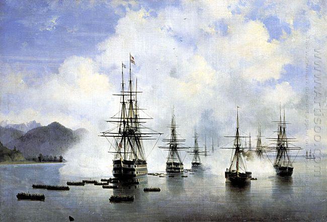The Landing At Subashi 1839
