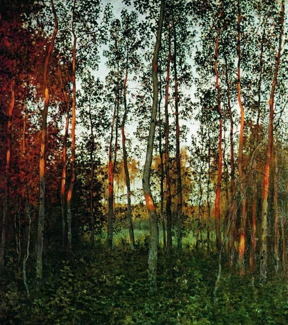 The Last Rays Of The Sun Aspen Forest 1897