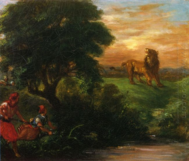 The Lion Hunt 1859