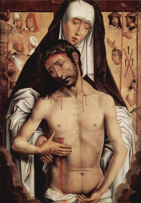 The Man Of Sorrows In The Arms Of The Virgin 1475