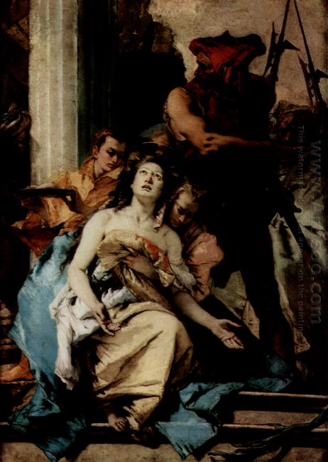 The Martyrdom Of St Agatha 1750