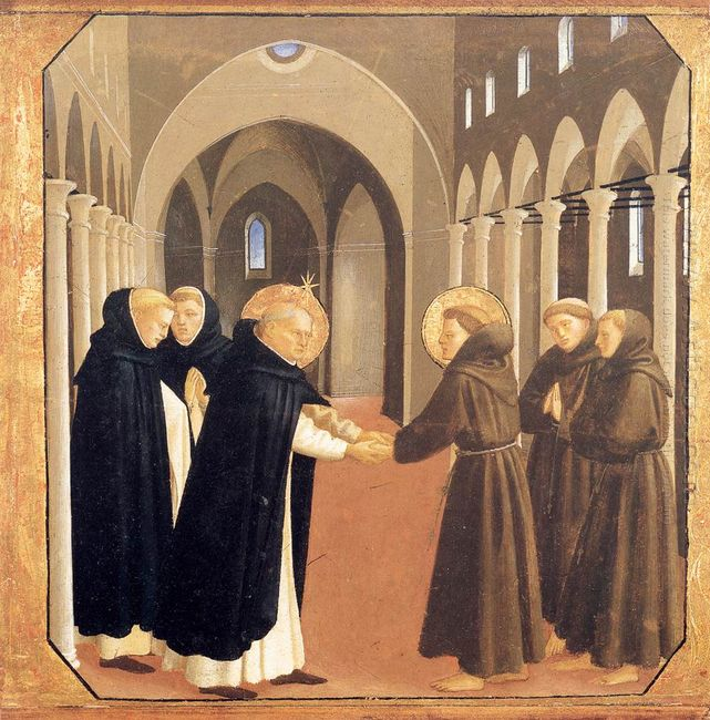 The Meeting Of Sts Dominic And Francis Of Assisi 1435