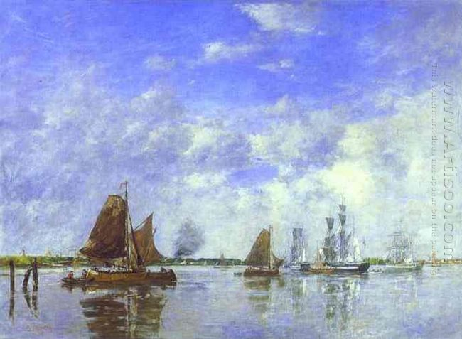 The Meuse At Dordrecht 1882