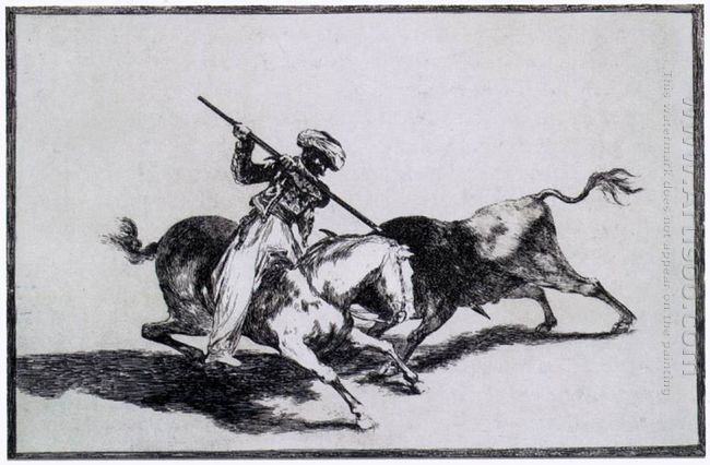 The Morisco Gazul Is The First To Fight Bulls With A Lance 1816
