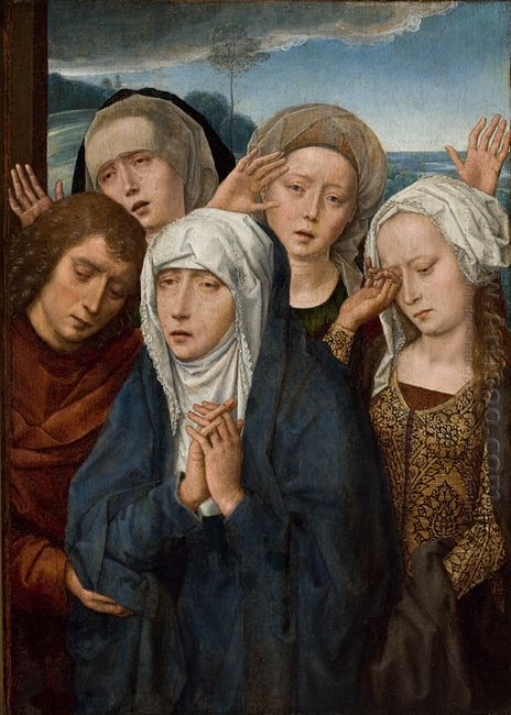 The Mourning Virgin With St John And The Pious Women From Galile