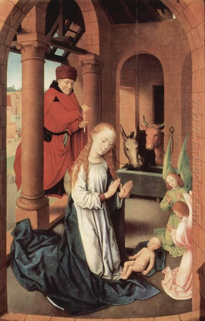 The Nativity Left Wing Of A Triptych Of The Adoration Of The Mag