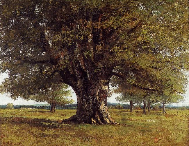 The Oak Of Flagey The Oak Of Vercingetorix 1864